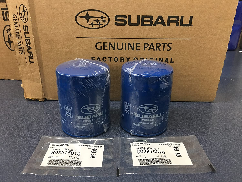 OEM Subaru Engine Oil Filter /& Gasket 15208AA15A Geniuine Impreza Legacy 12 PACK