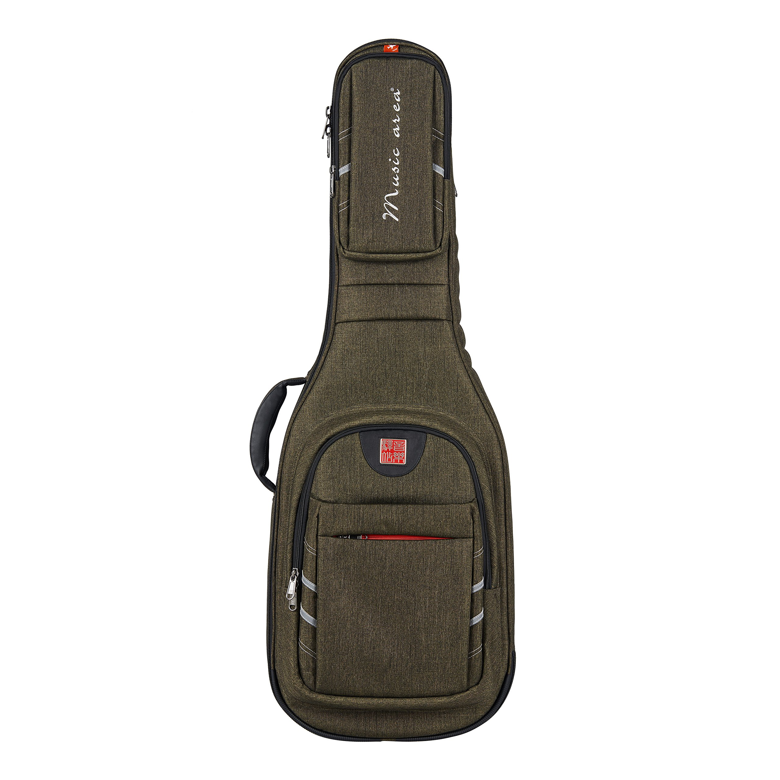 Music Area WIND 30 Series Electric Guitar Bag - Green (WIND30-EG-GRN) by Music Area