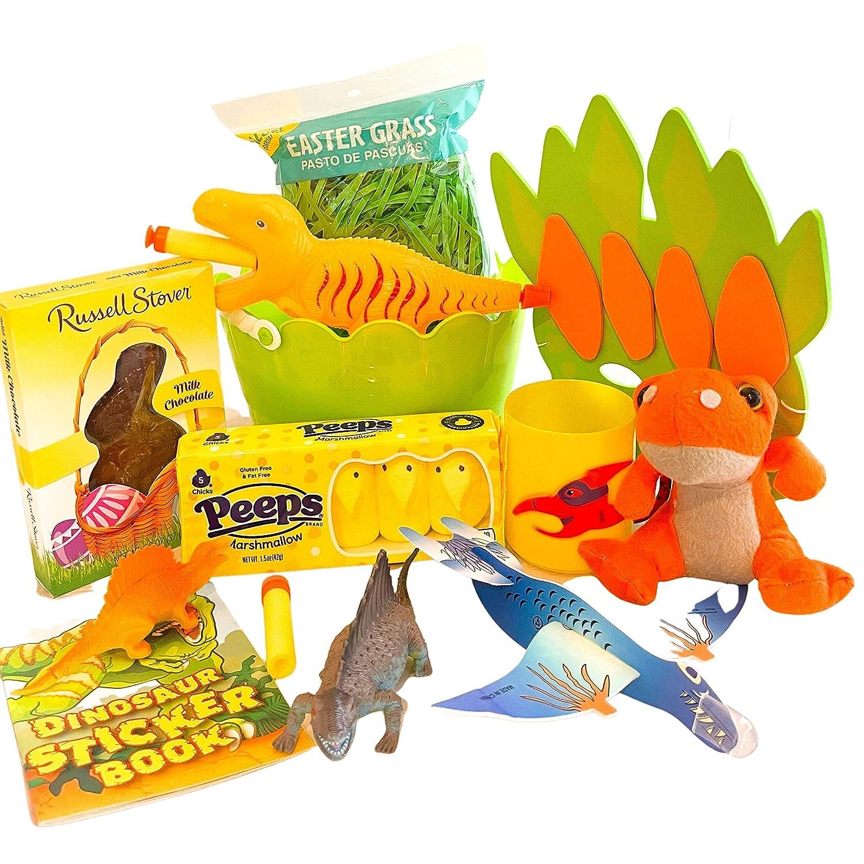 Easter Gift Baskets For Kids/Children - Gift Set for Boys and Girls (Dinosaur Basket)