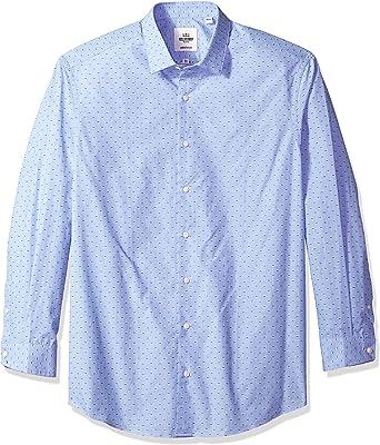 Ben Sherman Hombre HBS1495 Cuello tipo italiano] Manga Larga Camisa de vestir - Multi - 36 cm Cuello 81 cm/ 84 cm Manga: Amazon.es: Ropa y accesorios