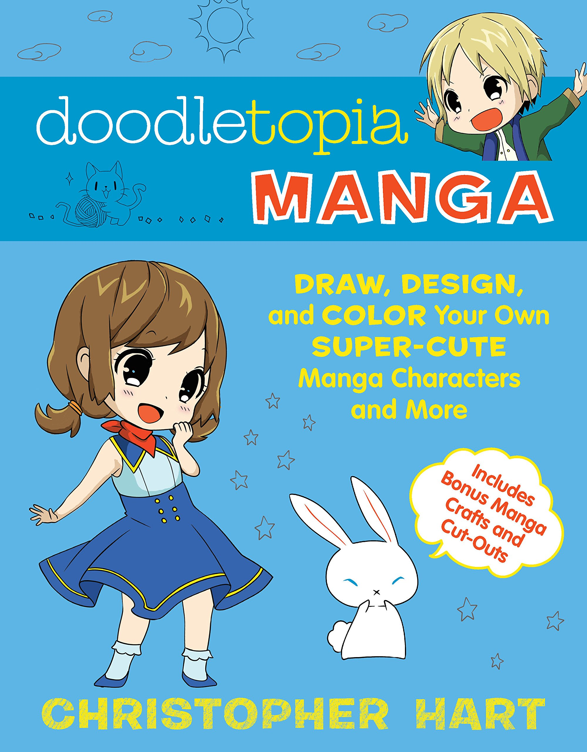 Doodletopia Manga: Draw, Design, and Color Your Own Super-Cute Manga Characters and More