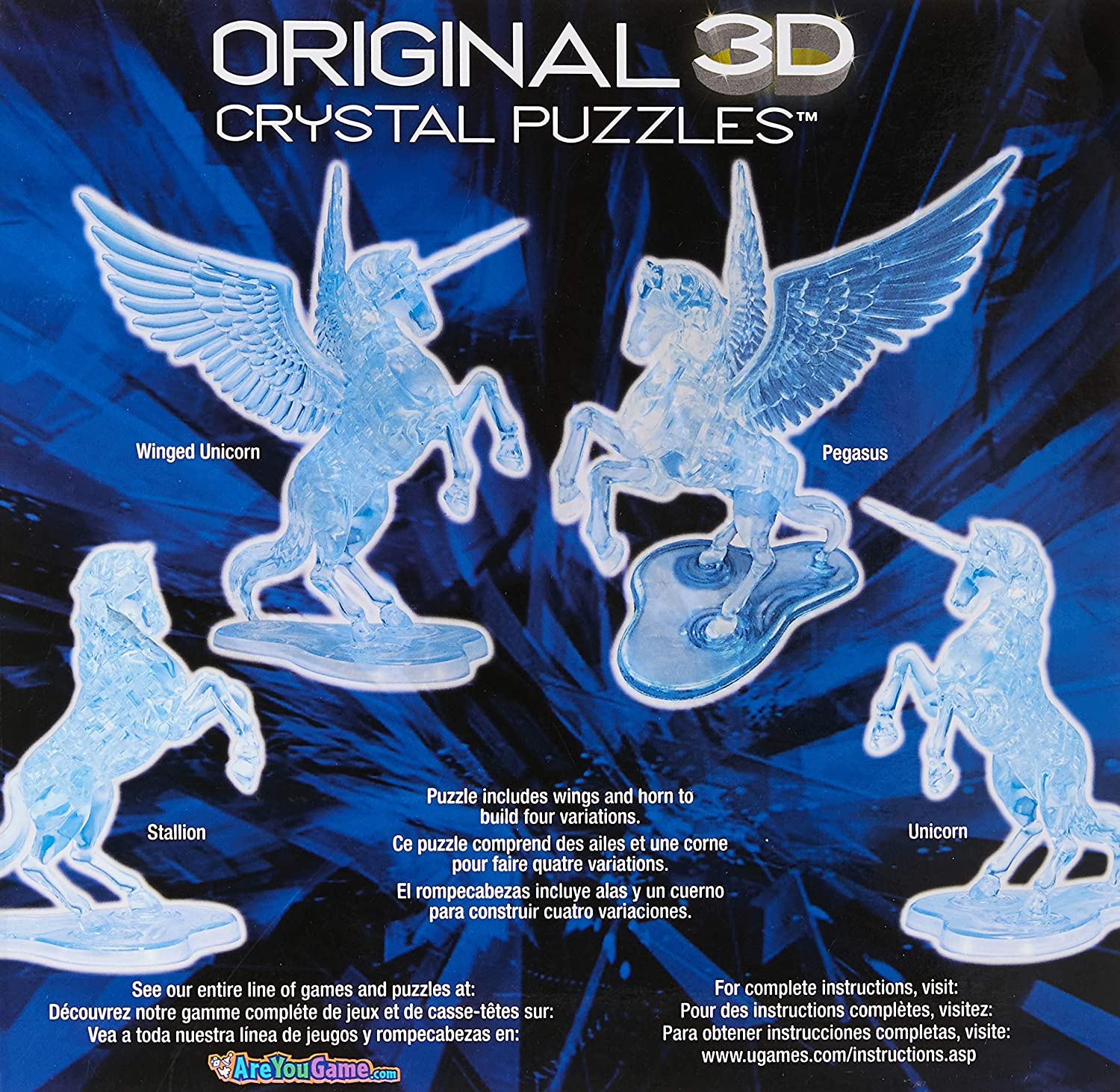 Dolphin Bepuzzled Original 3D Crystal Puzzle Deluxe Fun yet challenging...