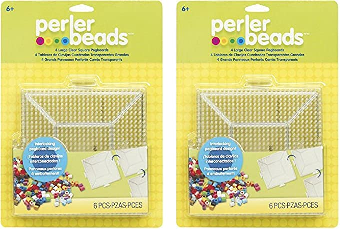 Hama Beads 4 Interlocking Square Pegboards