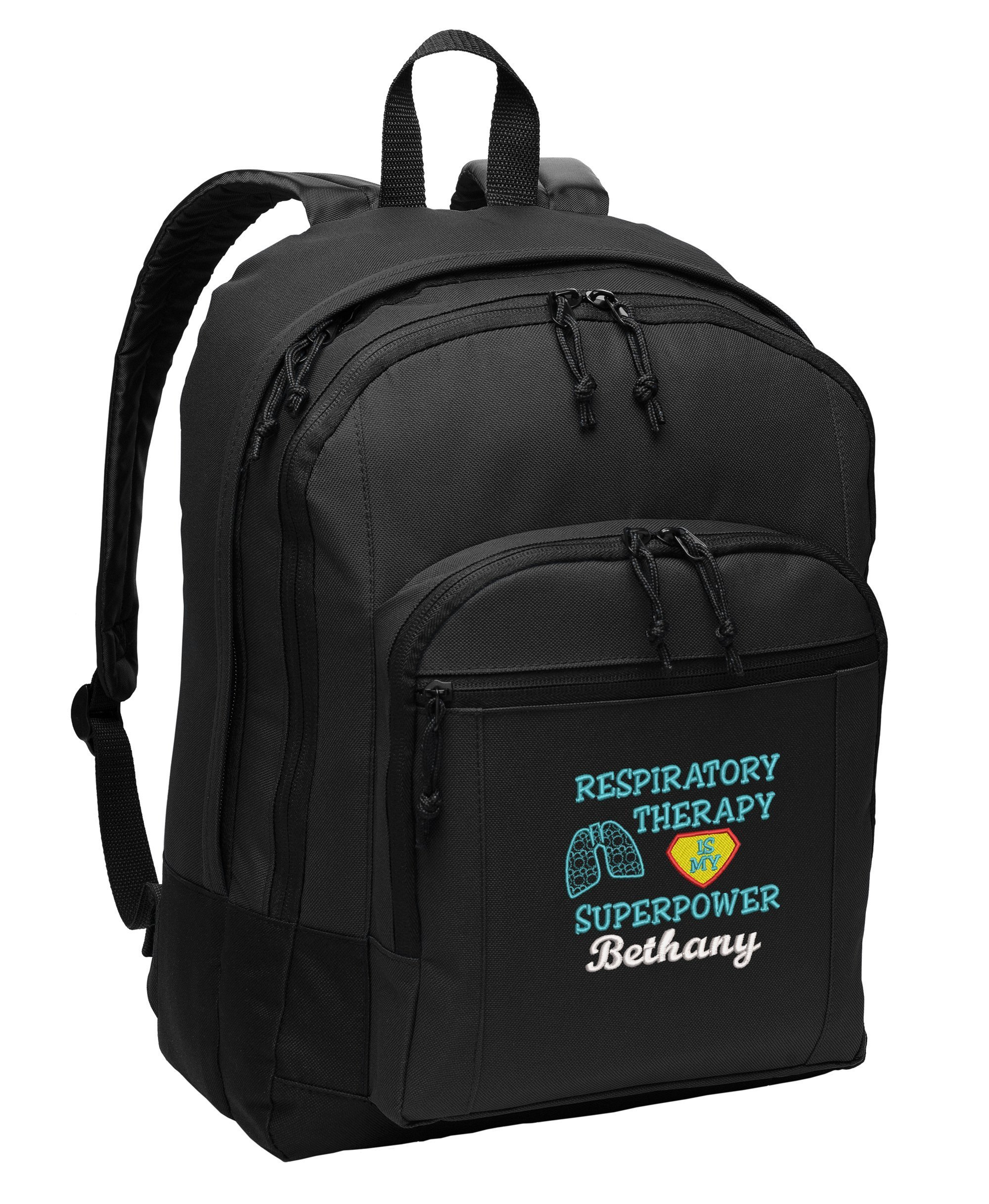 Respiratory Therapy is my Superpower Personalized Embroidered Backpack
