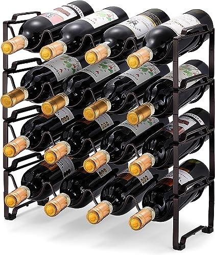 Simple Trending 4-Tier Stackable Wine Rack