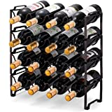 Simple Trending 4-Tier Stackable Wine Rack, Standing Bottles Holder Organizer, Wine Storage Shelf, Towel Rack for…