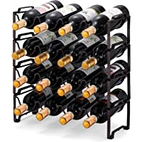 Simple Trending - Estante apilable de 4 niveles, organizador de botellas paradas, estante de almacenamiento de vino…