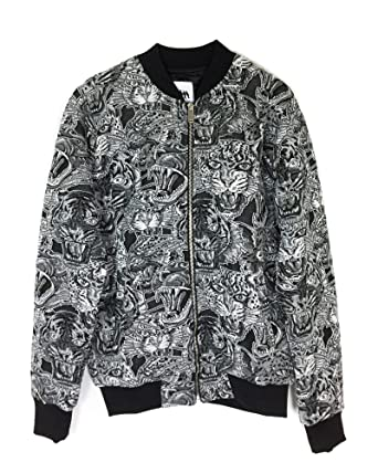 b88ffd0b Zara Men's Tiger Jacquard Bomber Jacket 4087/411: Amazon.co.uk: Clothing