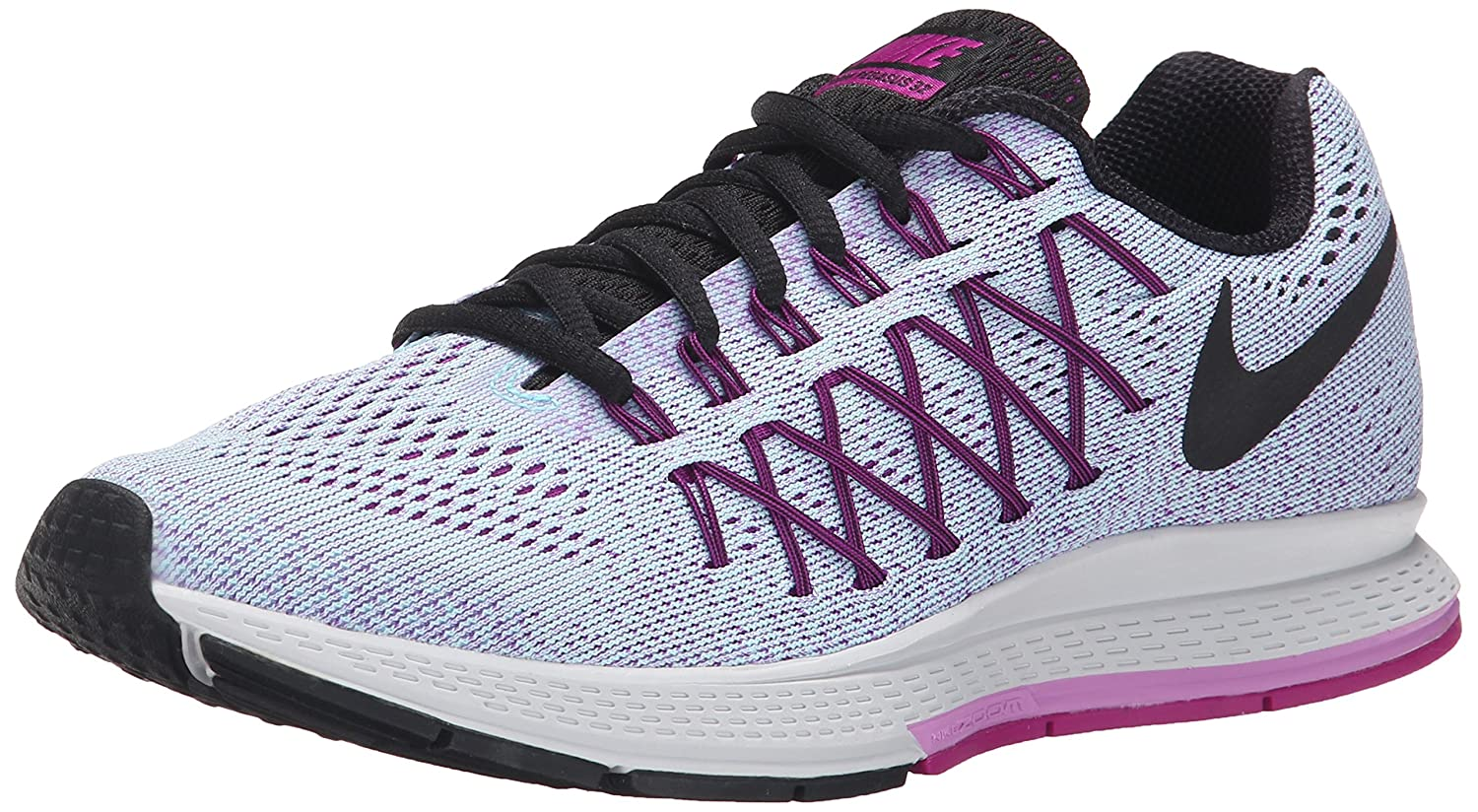 NIKE Women's Air Zoom Pegasus 32 Running Shoe B00V42PFU8 5.5 B(M) US|Copa/Black/Fuchsia Glow