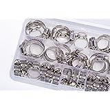 Bannan G0050Assortiment de colliers de serrage, Inox, différents, Lot de 40pièces