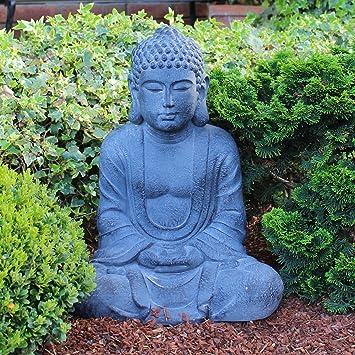 Betender Buddha-Figur sitzend 50 cm groß meditierende Budda Statue ...
