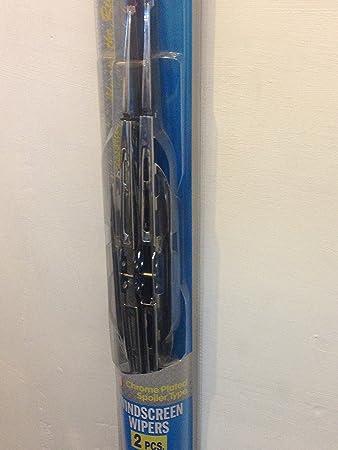 45 cm todos los Ride cromado Alerón tipo parabrisas limpiaparabrisas hoja Set de 2: Amazon.es: Coche y moto