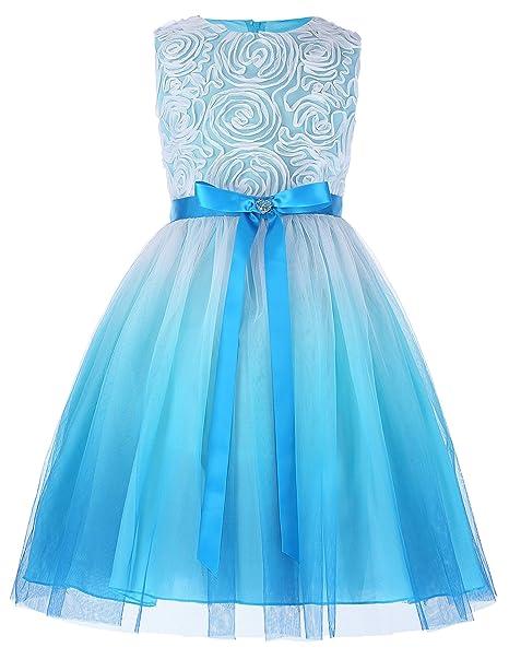 GRACE KARIN Vestido de Fiesta para Niñas Vestido sin Mangas Flores de Dama  de Honor Boda Bautizo 2-12 Años  Amazon.es  Ropa y accesorios d39449b3a482