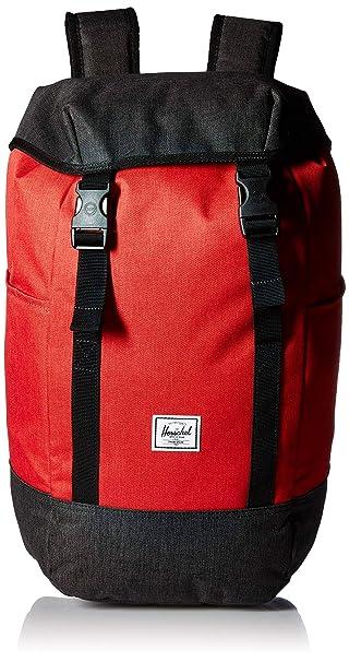24903336df Herschel Iona Backpack Barbados Cherry Black Crosshatch