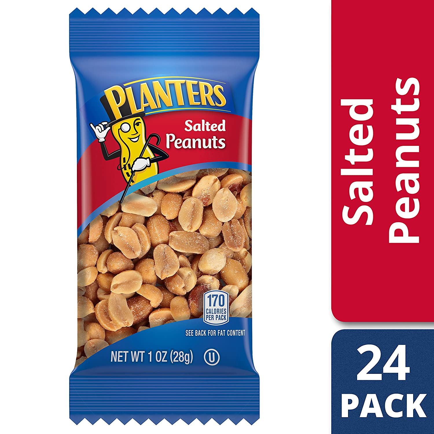 Peanuts, 24 pack. Do visit these 23 Smart Quarantine Pantry Supplies for Social Isolation I Ordered. #quarantinesupplies #pantryitems #nonperishables