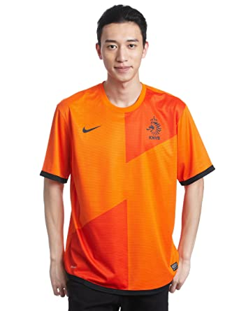 c39d0814ee8 Nike Men s Football Shirt Short-Sleeved in Dutch Home Kit Replica Style safety  orange