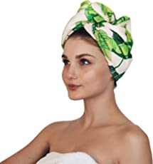 Kitsch Microfiber Hair Towel Wrap for Women, Hair Turban for Drying Wet Hair, Easy Twist Hair Towels, Super Absorbent & Ultra Soft (Palm)