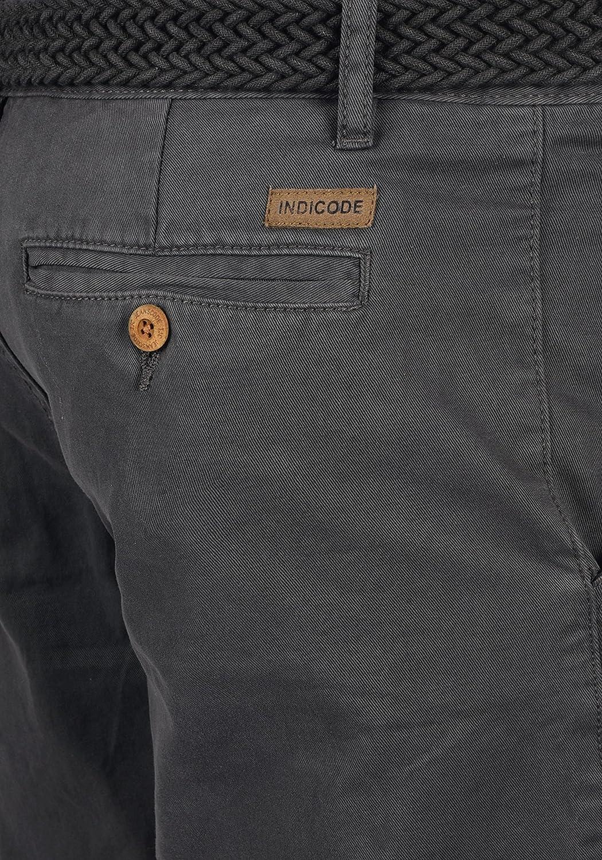 Indicode Inka Pantaloncini Chino Shorts Panno Corti da Uomo con Cintura in Cotone 100/% Regular Fit