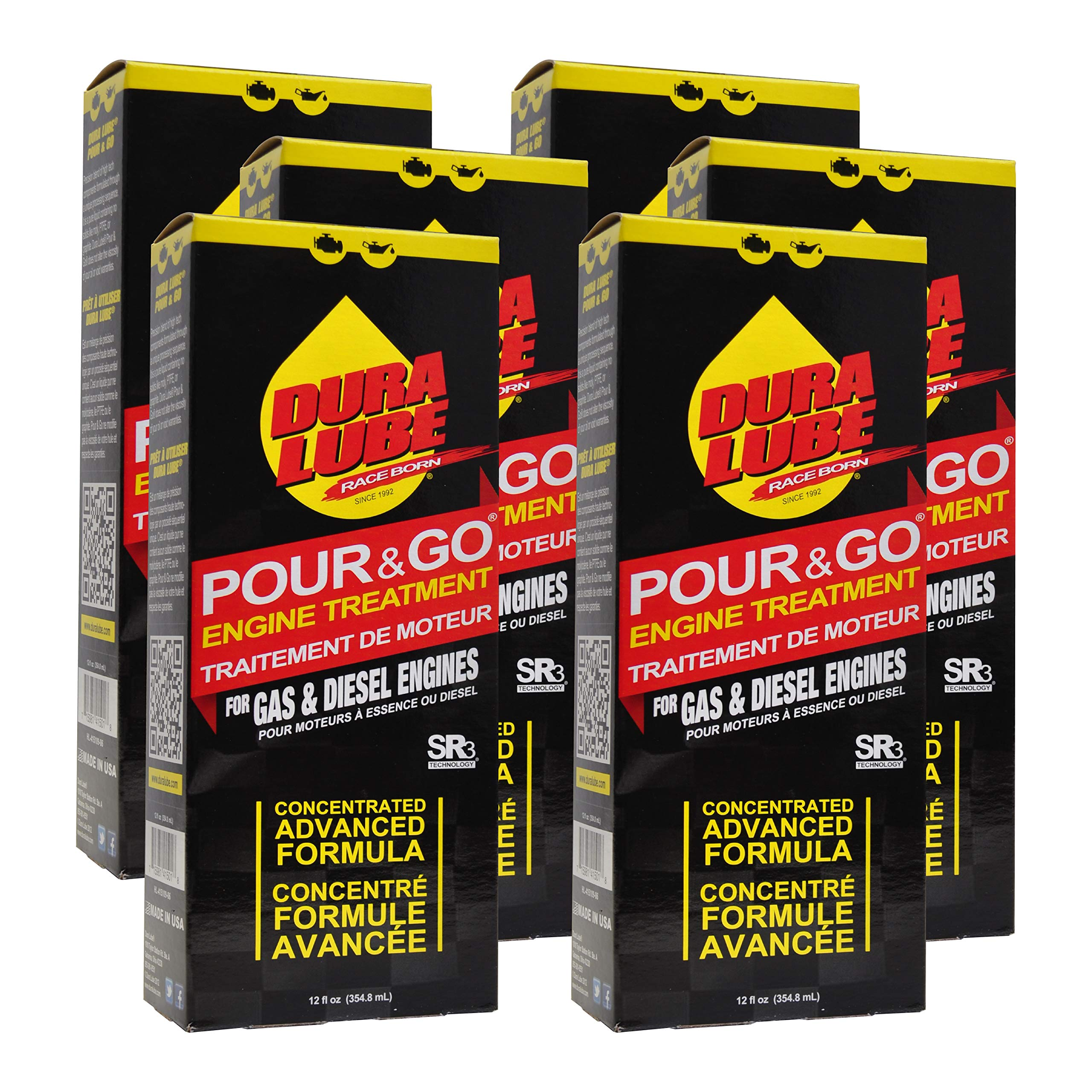 DURA LUBE HL-41501-06-6PK Pour & Go Engine Treament, 12-Ounce, 6-Pack by DURA LUBE