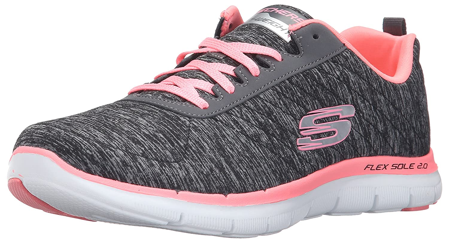 Skechers Women's Flex Appeal 2.0 Sneaker B01G2FXO18 8.5 W US|Black Coral