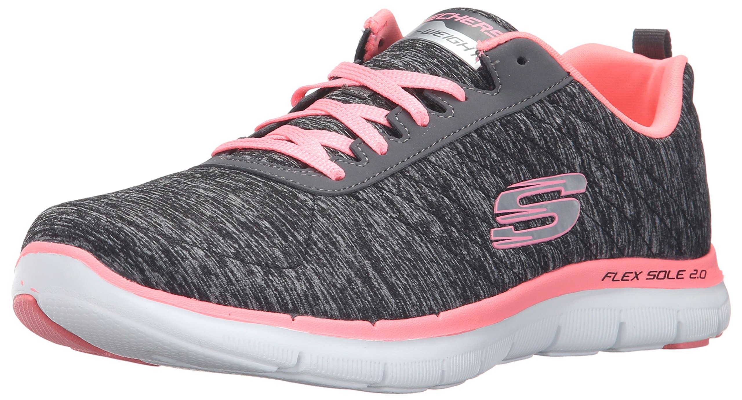 Skechers Sport Women's Flex Appeal 2.0 Sneaker, Black Coral, 11 M US