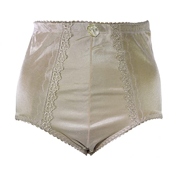 c9abe7dc1d5b Trifolium 3 in a Pack Silky High Waist Control Knickers Brief Lace Plus Size  UK 8-24 5003: Amazon.co.uk: Clothing