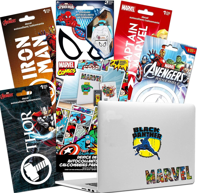 Marvel Avengers Laptop Stickers Ultimate Set - 25 Premium Superhero Decals Room Decor, Car, MacBook (Spiderman, Thor, Iron Man, and More!)