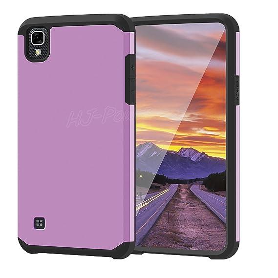 low priced 0824b e8e06 LG Tribute HD Case, HJ Power[TM] For LG Tribute HD LS676/X Style (Virgin  Mobile, Boost Mobile)--AH2 HYBRID TPU Hard Case Black Purple