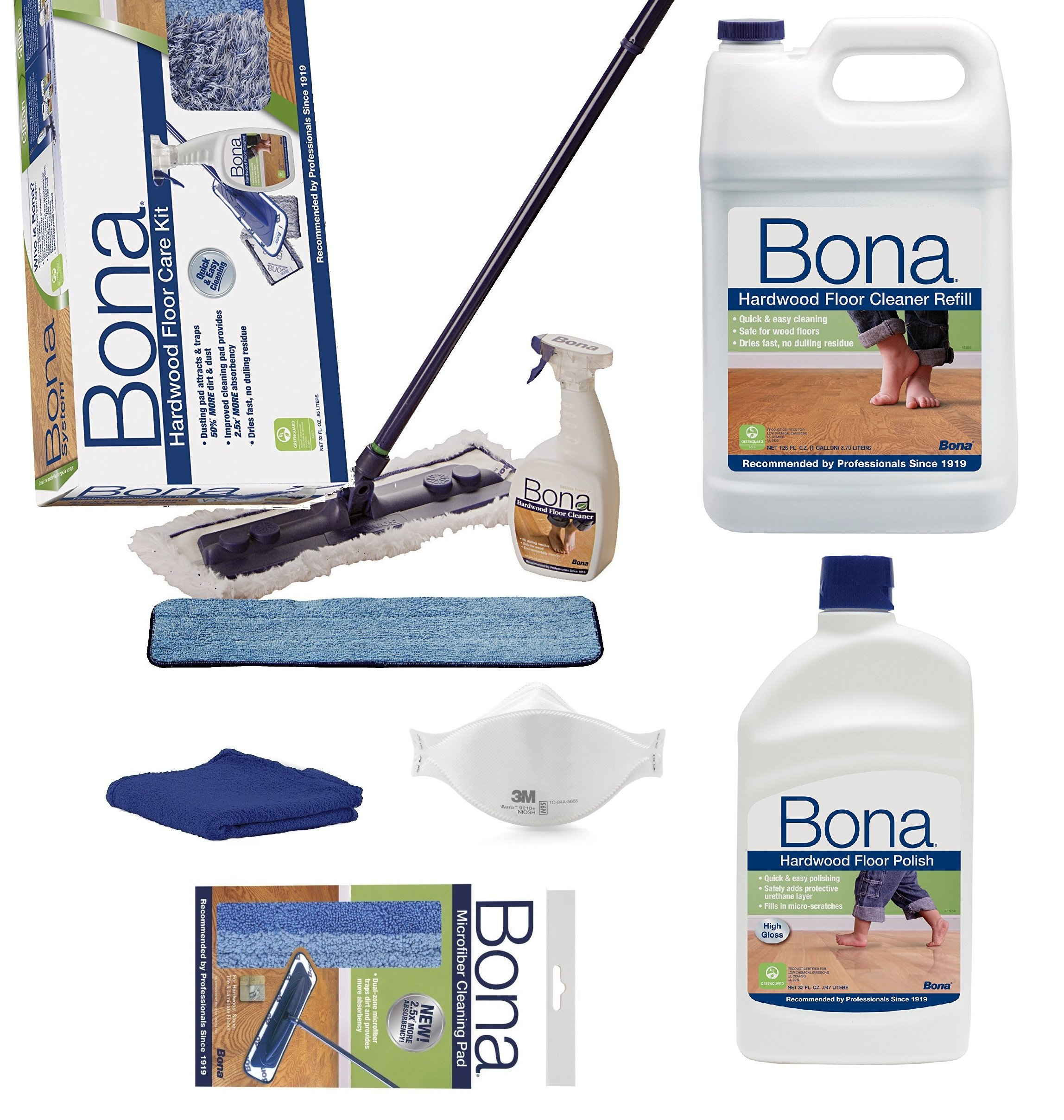 Bona Hardwood Floor Spray Mop, includes 28.75 oz. Cartridge (Bona Family PACK)