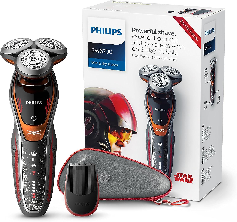 Philips Star Wars Episodio VIII SW6700/14 - Afeitadora eléctrica serie 6000, edición limitada Rebelde: Amazon.es: Salud y cuidado personal