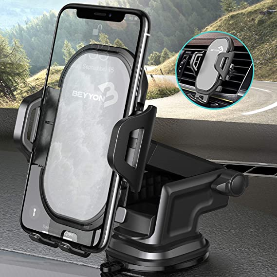 Car Phone Holders UXD Car Phone Mount Patented Phone Holders for Car Dashboard//Windshield//Air Vent Galaxy S20+ S20 Note 10 9 Plus Light Gray Compatible iPhone 11 Pro Max Xs XR X 8