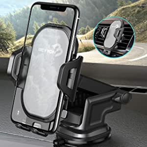 Car Cell Phone Holder Dashboard - BEYYON 2 in 1 Dash Windshield Air Vent Car Phone Mount for iPhone 11 Pro Xs Max XR X 8 7 6s Plus SE, Galaxy S10 5G S10+ S10e S9, Note 10, LG G8, Pixel, HTC