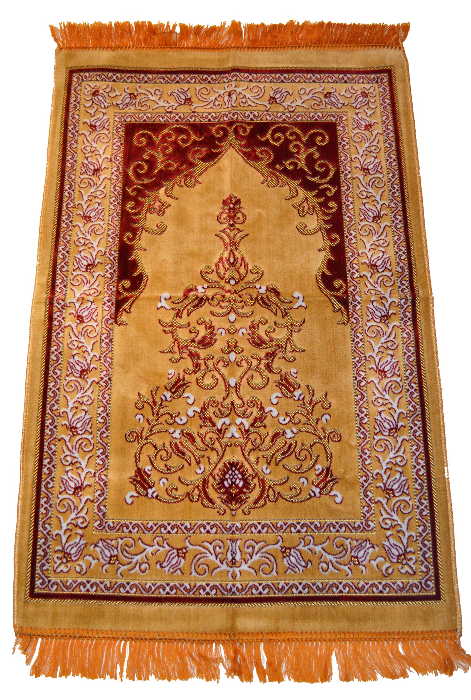 Prayer Rug Carpet Islamic Muslim Salah Meditation Mat Turkish Exquisite High Quality Beige