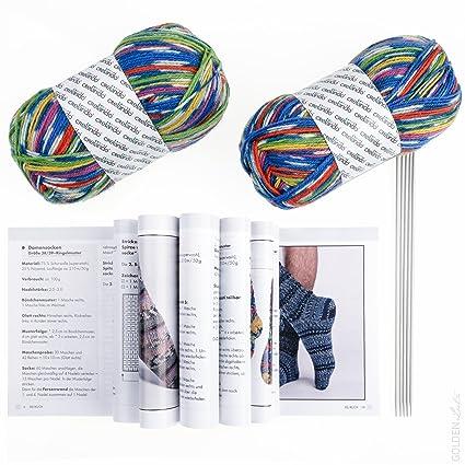 crelando® Calcetines de punto Juego Incluye 2 x 50 g Para Tejer (75%