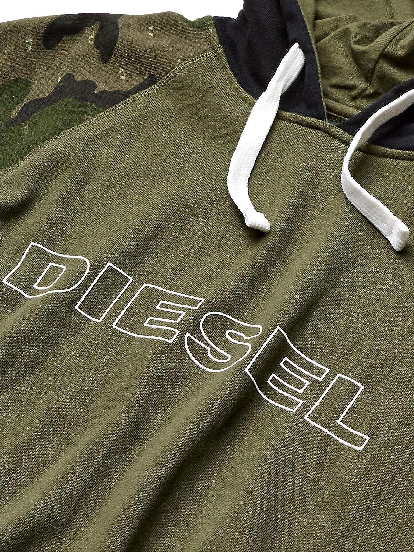 Diesel Mens Brian Hooded Sweatshirt Pajama Top
