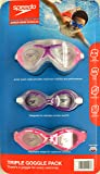 SpeedoUSA Junior Goggle Set, 3 Pack, Ages 6-14