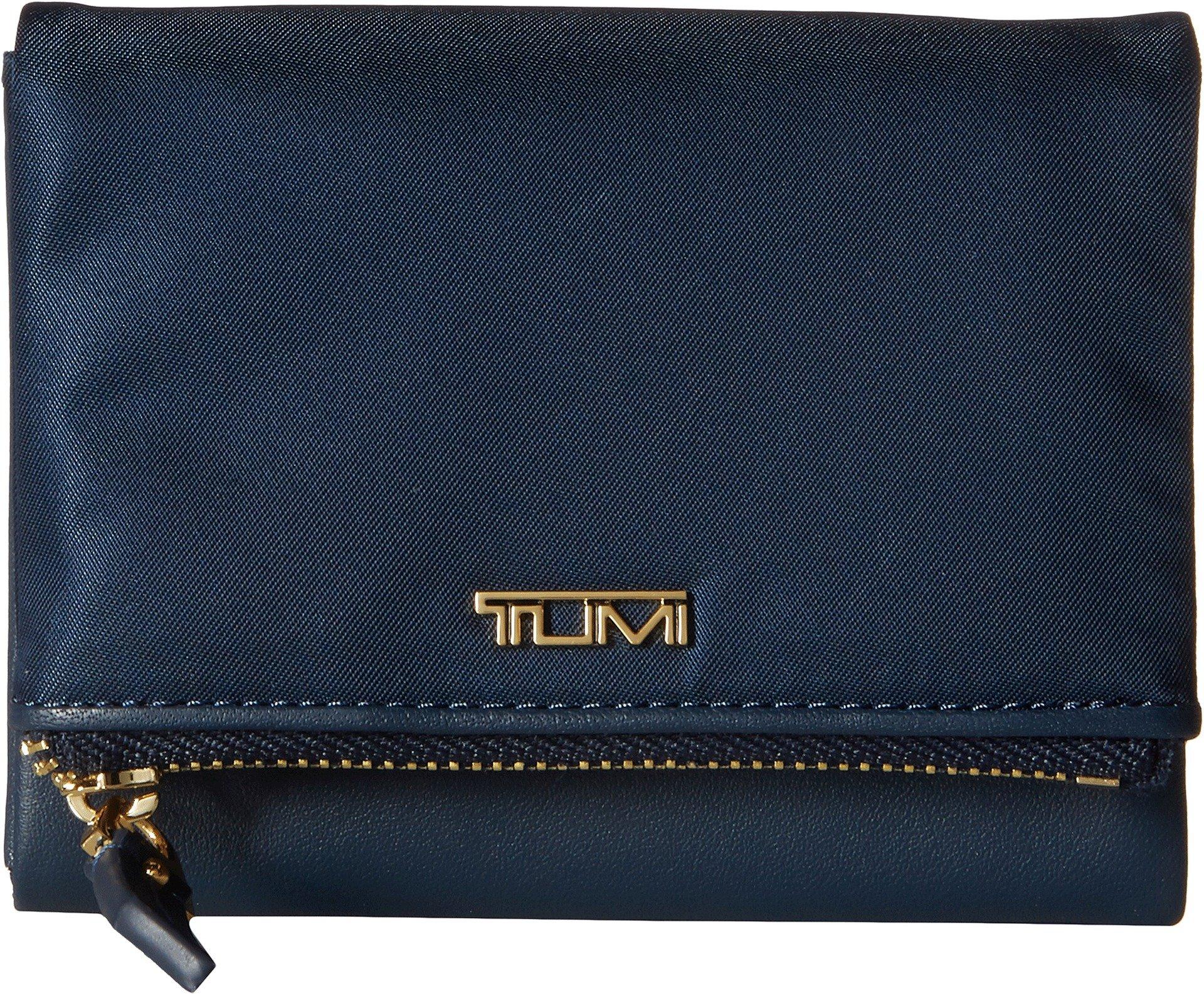 Tumi Women's Voyageur Flap Card Case Ocean Blue