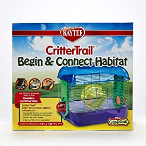 Kaytee Critter Trail Begin and Connect Habitat for Hamsters,Multicolor,Small
