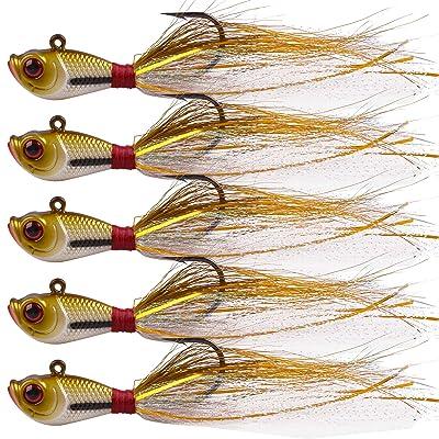 1oz fluke grouper trout ball fishing lure jig bucktails Pack of 3