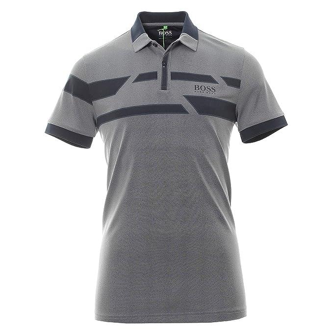 professionelle Website großer Abverkauf schöner Stil Hugo Boss Men's Gray Blue Paddy Pro 1 Polo Stretch T-Shirt