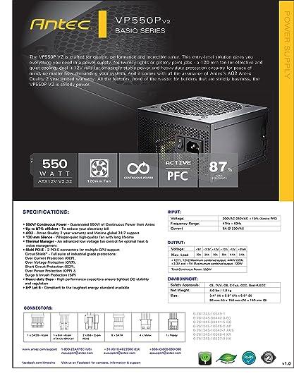 Amazon.in: Buy ANTEC VP550P - 550 WATT Computer Power Supply / True ...