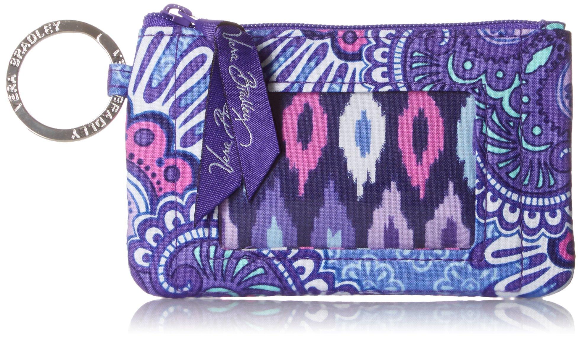 Vera Bradley womens Zip Id Case, Lilac Tapestry, One size