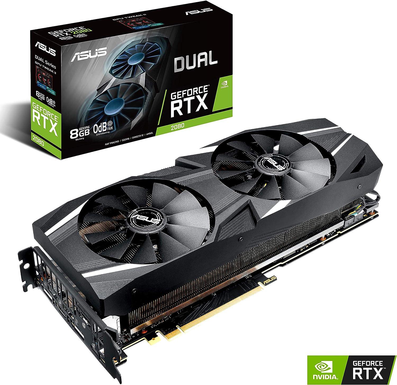 ASUS GeForce RTX 2080 8G GDDR6 Dual-Fan Edition VR Ready HDMI DP USB Type-C Graphics Card (DUAL-RTX-2080-8G)