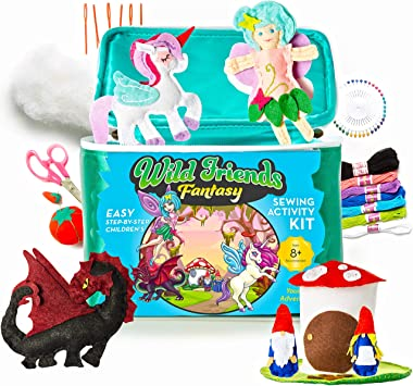 2 X MAKE YOUR OWN PLUSH UNICORN PLAYSET TOY SEWING KIT FUN ACTIVITY XMAS GIFT