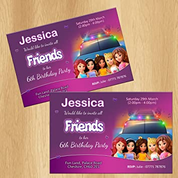 Lego Friends Party Invitations Personalised Birthday Invites