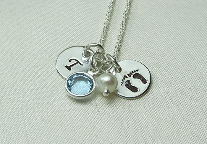 73a9e821d Amazon.com: Mothers Necklace Personalized Birthstone Necklace New ...