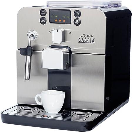 Gaggia Brera Super Automatic Espresso Machine in Black. Pannarello Wand Frothing for Latte and Cappuccino Drinks