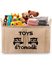 "Gimars Upgrade X-Large Well Standing 22"" Toy Chest Baskets Storage Bins for Dog Toys, Kids & Children Toys, Blankets, Clothes - Perfect for Playroom & Shelves"