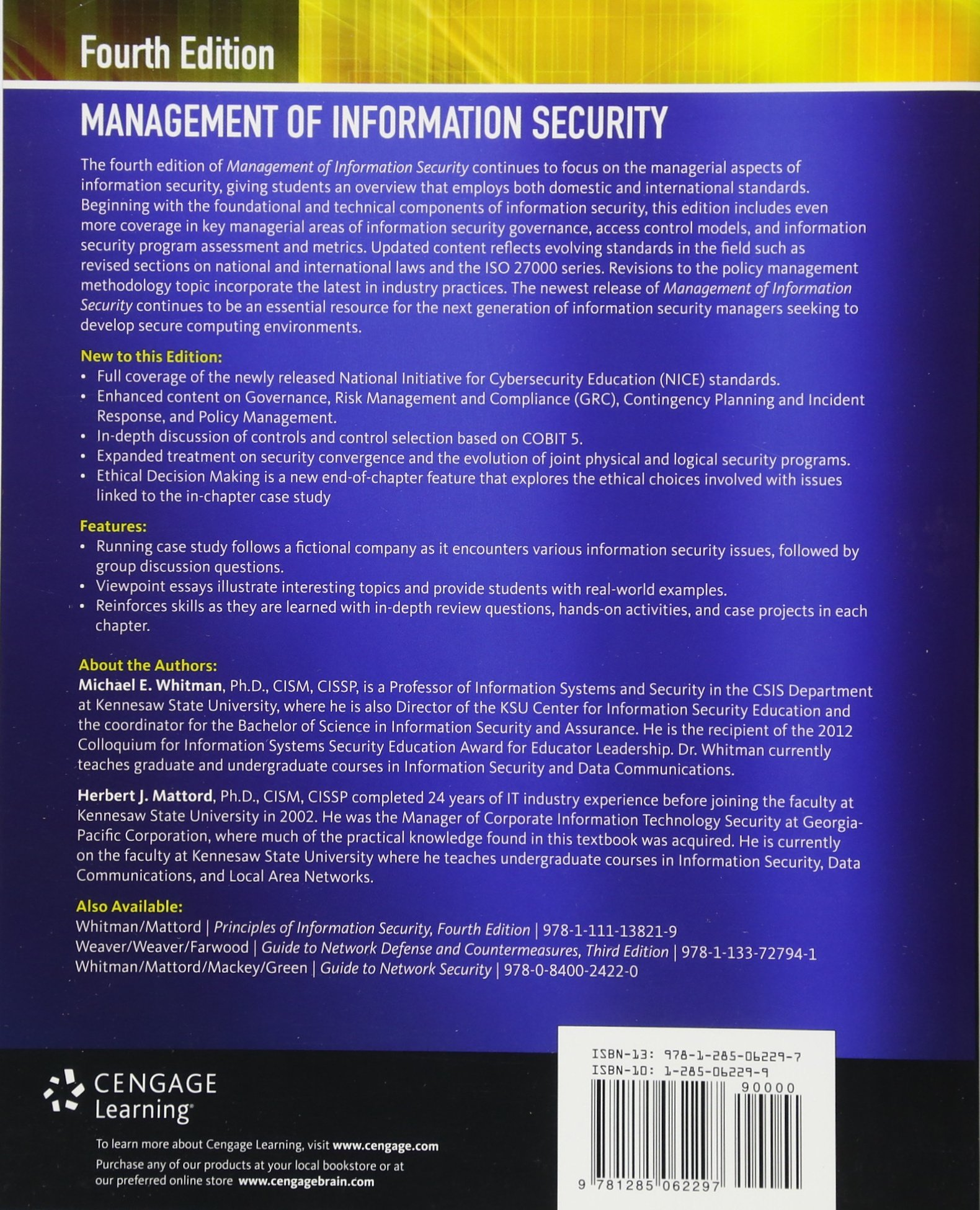 management of information security amazon co uk michael whitman rh amazon co uk Network Security Architecture Diagram Network Security Map