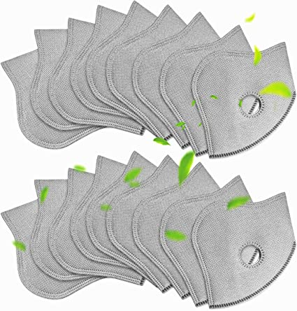 20pcs 5-Layer PM2.5 Replaceable Protective Filter Activated Carbon Filter Pads